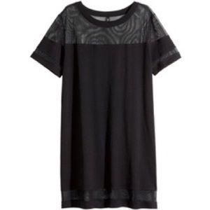 H&M mesh inlay tshirt dress